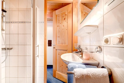 Dusche + WC  Kellaspitze