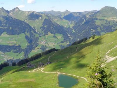 Alpe Oberpartnom - Blick Fotanella-Faschina